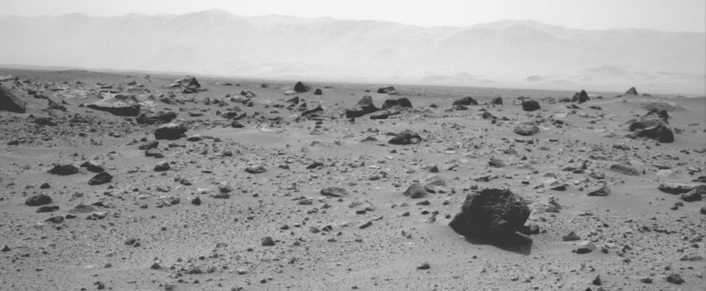 Westward View from Curiosity on Sol 347