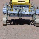 SAFER rover's first tracks in Atacama Desert