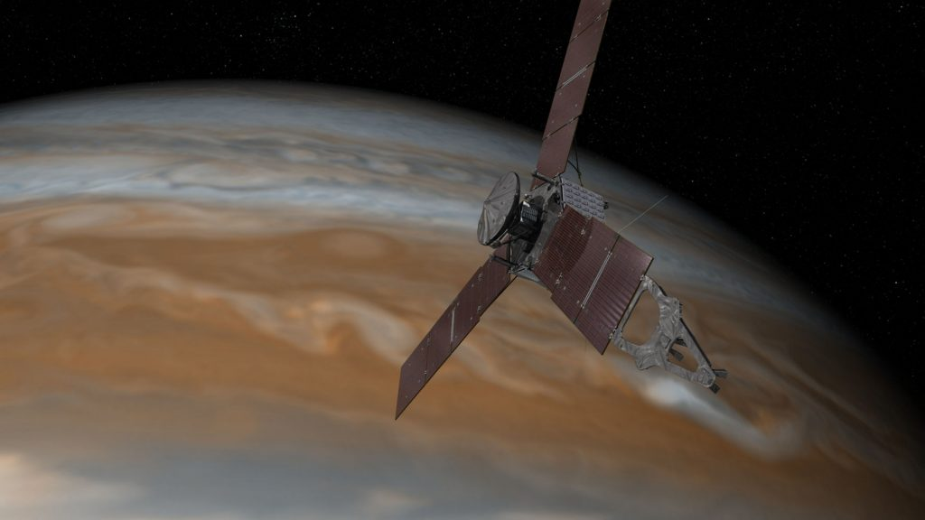 NASA's Juno Spacecraft in Orbit Around Mighty Jupiter